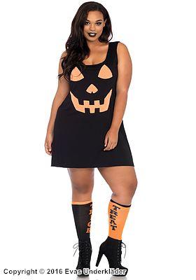 Kort klänning med Halloween-tryck